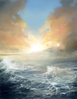 Ocean Age digital painting by MyCKs