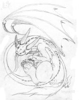 Dragon of Stares at You Pencil by Besonik
