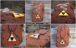 The Legend of Zelda - Triforce Necklace Charm by Tsurera