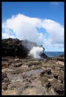 Nakalele Blowhole by darthpayback