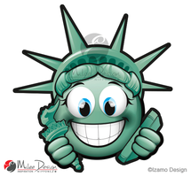 Liberty Statue Smiley by Milee-Design
