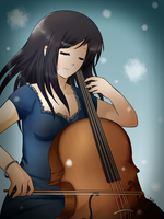 Cello girl -kiriban prize- by Ailish-Lollipop