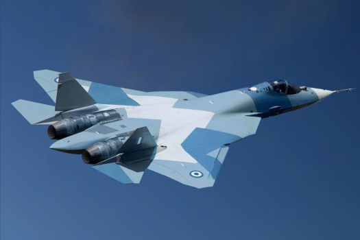 Sukhoi T-50, with the signs of Hellenic Air Force by ZEUSosX