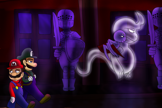 Though the hall of the Manor by PoltergeistForever
