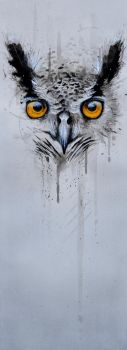 Mixed Media owl 2 by McKMills