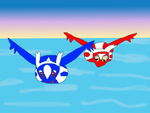 Latios and Latias soaring by nickel8