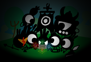 Hatapon playing Patapon by AngryBirdsStuff