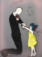 Here you go Mr.Slenderman~!!: Colored by AbominalSnowDemon