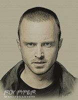 Breaking Bad: Jesse: Pencil Sketch Re-Edit by nerdboy69