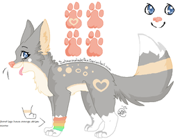 .:Michiko:. Meet my fursona! c: by misconceiving
