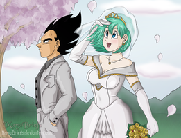 Vegeta and Bulma Wedding by mayabriefs