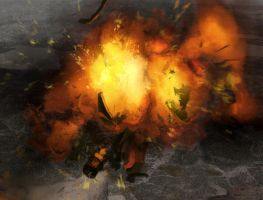 Explosion study for a painting by Zirngibl