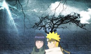 naruto and hinata at the war by Bleach-Fairy