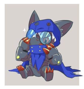 Appmon: glasses hackmon by ginryuumaru