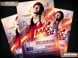Electro House Music Flyer V7 PSD by Industrykidz