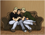 [Collab] Double The Fun_SPN AU by Anko-sensei