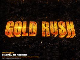 GOLD RUSH SHOW TITLES CINEMA 4D by Industrykidz