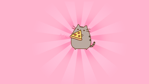 Wallpaper Pusheen the cat by Elviel