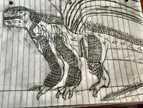 Scp-682 Dragon by zillaboy2017