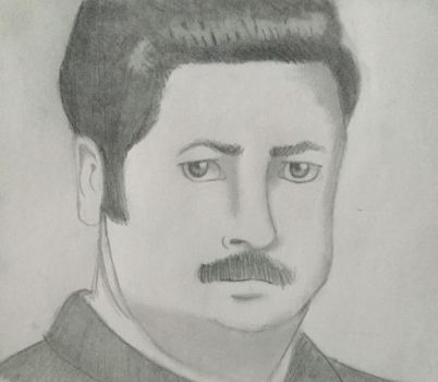 Ron Swanson by LizWright134
