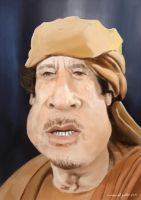 Gadhafi Caricature by mgaber