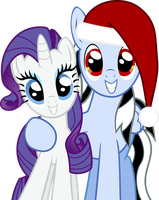 Beat Shock and Rarity Christmas Vector by BeatShock