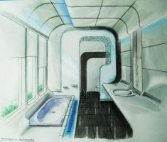 Futuristic Bathroom by shinvan
