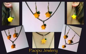 Paopu - Earrings and Necklace by CeltysShadow