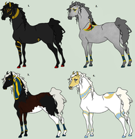Egyptian Equus Mix Adopts - CLOSED by The-Halfway-House