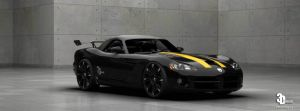 Dodge Viper SRT10 Yellow-Striped by Paho95
