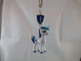 Shining Armor Cutie Mark Charmed Keychain by DeadHeartMare