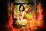 GIRL ON FIRE by SAMLIM
