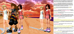 Sora, Kaira, and Namira's Date on the Beach by Starfighter364