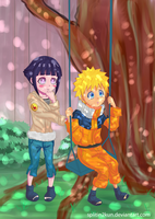 ::NaruHina:: Hang in There, Naruto-kun! by Splitin2kun