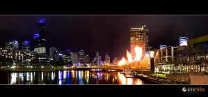 Melbourne Skyline at Night by Furiousxr