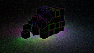 Glowing cubes by MobyMotion