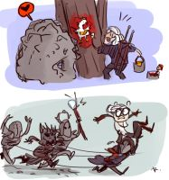 The Witcher 3, doodles 9 by Ayej