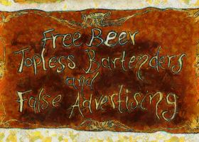 Free Beer and topless service by Theophobus