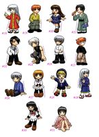 117 chibies...fruits basket by belafantasy