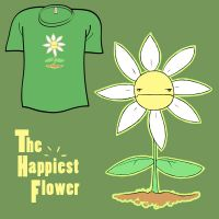 Woot Shirt - Happiest Flower by fablefire