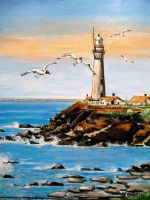 Le phare by Acrylinne