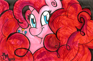 Pinkie in Ink Water Color by CleppyClep