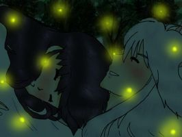 Youko and Kagome- Fireflies by horuri-san