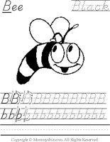 Mommysbiz | B-Bee-Black Preschool Worksheet by DanaHaynes