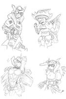 My Tf OC's  Sketchs by Deceptigirl