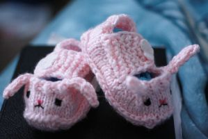 Bunny slippers yay by tinyowlknits
