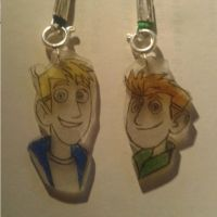 Martin and Chris Kratt Cell Phone Charms by Xiaolin101