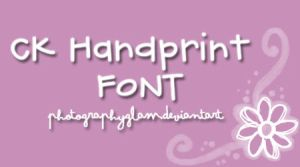 Font CK Handprint by PhotographyGlam