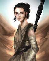 Star Wars - Rey by Isaann