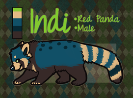 Indi Red (Blue) Panda - SOLD by pandapoots